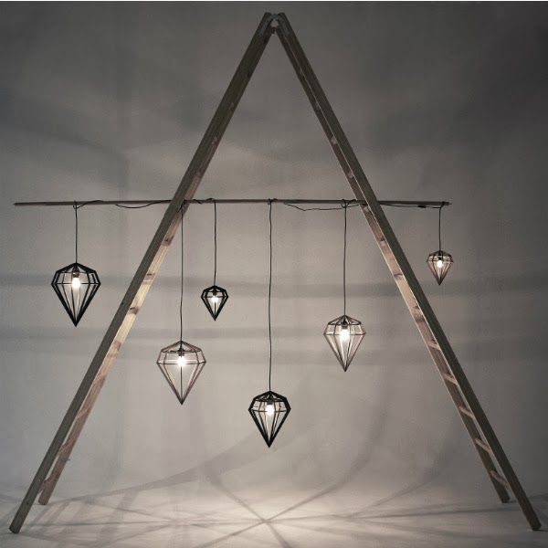 Laser cut lights. Darling Things: Tvåfota Design, from Swedish bipedal design