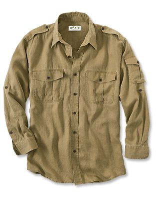 Just found this Long-Sleeve Linen Shirt - Long-sleeved Linen Bush Shirts -- Orvis on Orvis.com!