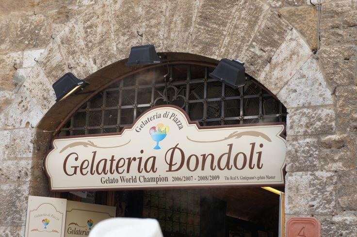 Gelateria Dondoli is a must to add to your Tuscany vacations' bucket list! The best gelato in Tuscany!
