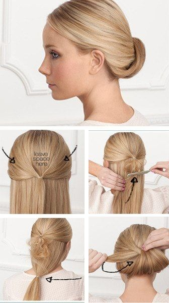Bun - could add a couple braids in there to really spice it up