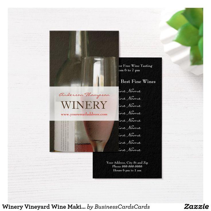 Winery Vineyard Wine Making Business Card