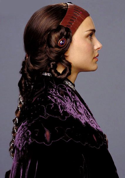 Senator Padme Amidala, 'StarWars Episode III: Revenge of the Sith'. 'Revelation' headpiece and gown, designed by Trisha Biggar.