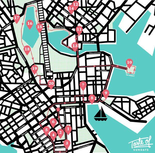 Helsinki tour - The magical map to Helsinki