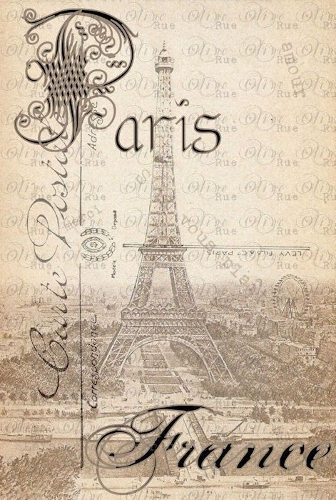 Digital Download No. 135, Nostalgic, Vintage Paris Print. $4.00, via Etsy.