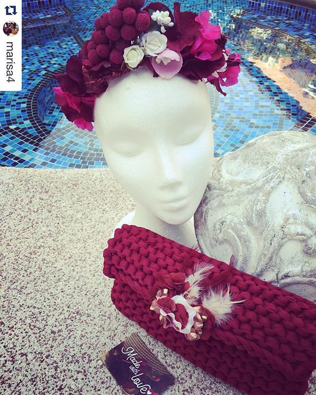 #repost @marisa4 #tribecahandmade #tribeca #shop #shopping #knitting #bag #preservedflower #flowers #bloom #jewelry #accessories #headpiece #beutiful #unique #handmade #london #madrid #outfit