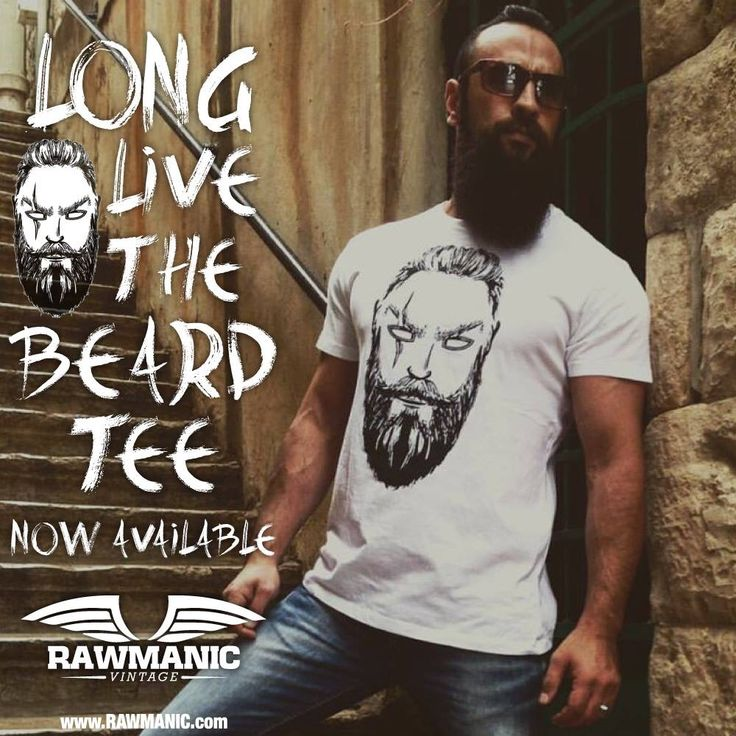Feel the beard, Look the beard, Be the beard. The all new vintage beard tee by Rawmanic.   Embrace your father's heritage. Available in white & leather grey. Get yours today at www.Rawmanic.com