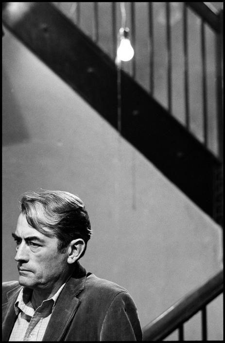 """Dennis Stock-Gregory Peck on the set of """"I Walk the Line""""1970 USA-Magnum Photos Photographer Portfolio"""