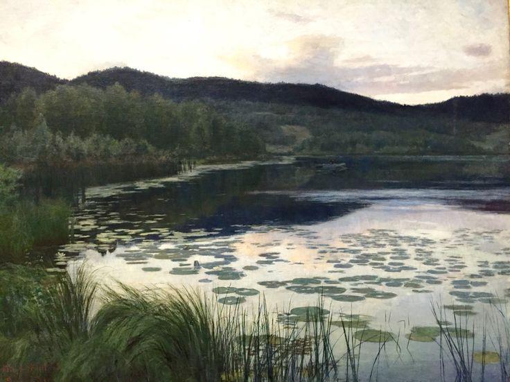 Kitty Kielland. 1886. Summer Night. National Gallery, Oslo, Norway.