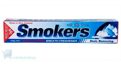 smoker's toothpaste   http://www.shopnewzealand.co.nz/en/cp/Smokers_Toothpaste