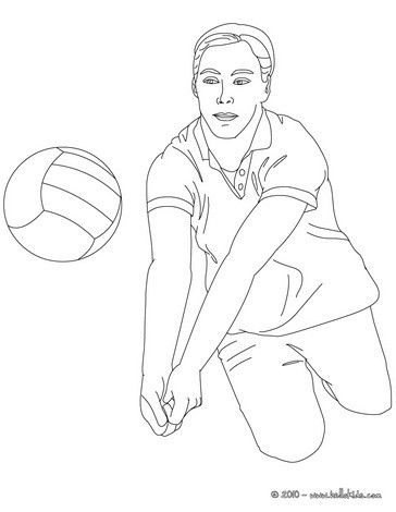 Free Volleyball coloring pages available for printing or