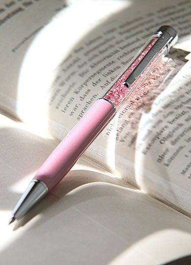 Swarovski Crystalline Ballpoint Pink Hope, Pearl Pen, Breast Cancer Awareness