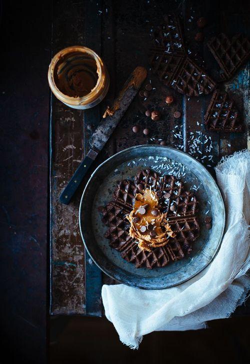 Waffles chocolate moody ... love