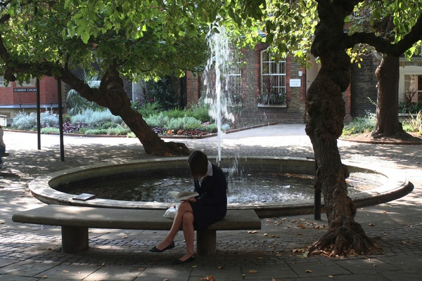 Inns of Court Garden fountain