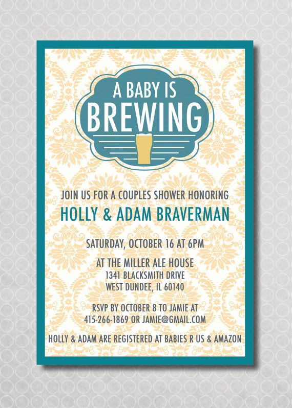 Couples Baby Shower Invitation Baby is Brewing by PinchOfSpice, $15.00