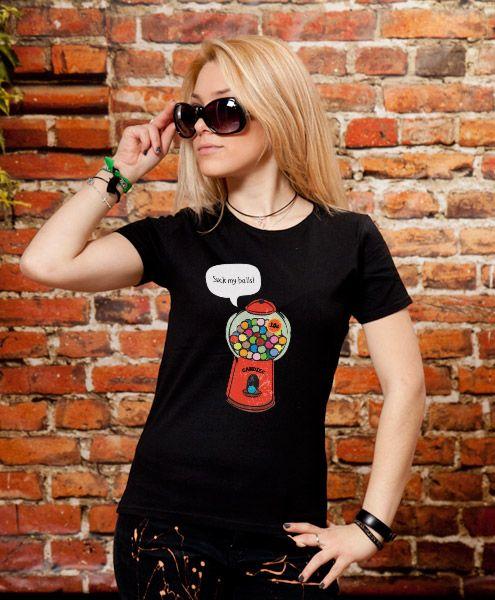 """""""Rude Gumball Machine"""" T-Shirt Design by Kanelart"""