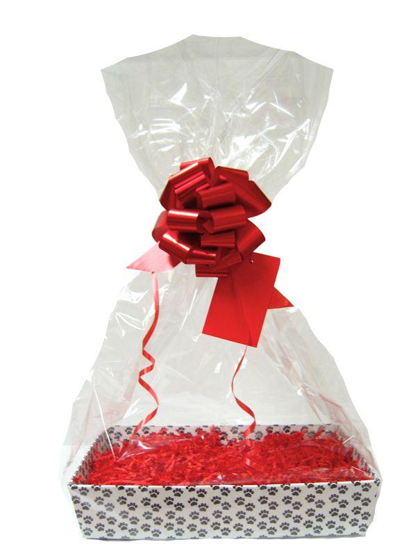 White Cardboard Tray Bow Shred GOLD DIY Gift Basket Hamper Kit Bag /& Tag