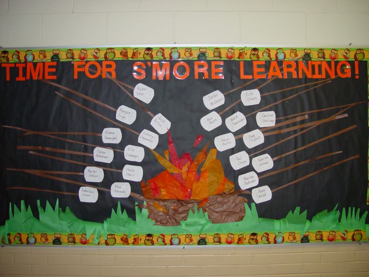 camping+bullitans | Two more bulletin boards...one in the hall and one in the classroom ...