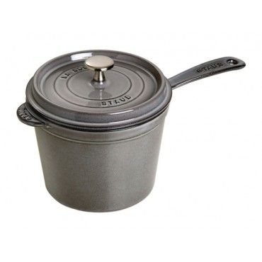 Staub - 3 Qt. Graphite Grey Saucepan - 1281818