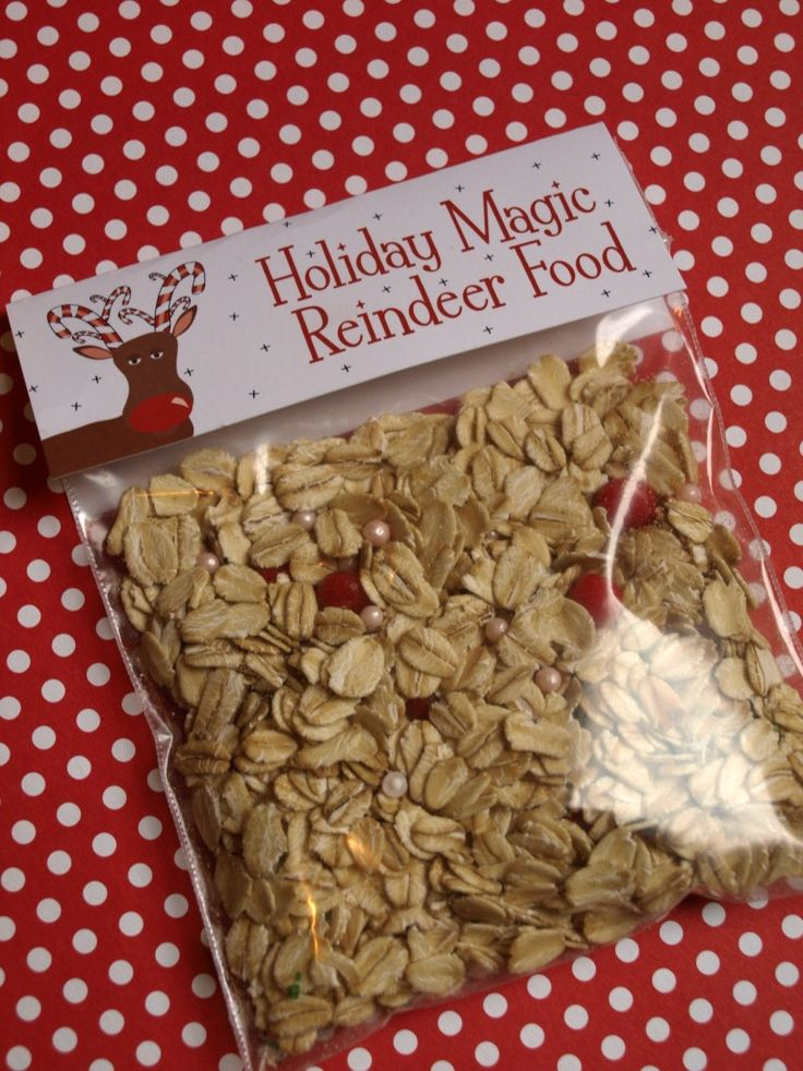 FREE Magic Reindeer Food Bag Toppers