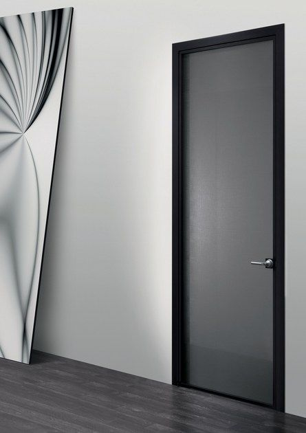 Download the catalogue and request prices of Luna | hinged door By res, hinged glass and aluminium door design Massimo Cavana, luna Collection