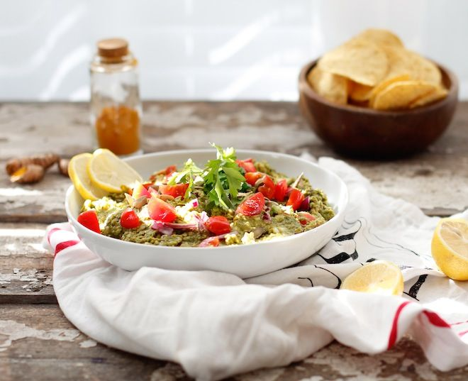 Nutrition Stripped | Curry Pea-Guacamole | http://www.nutritionstripped.com