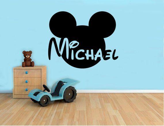 MICKEY cute cartoon Kids nursery souris COOL Wall Art Stickers Décalque Vinyle Chambre