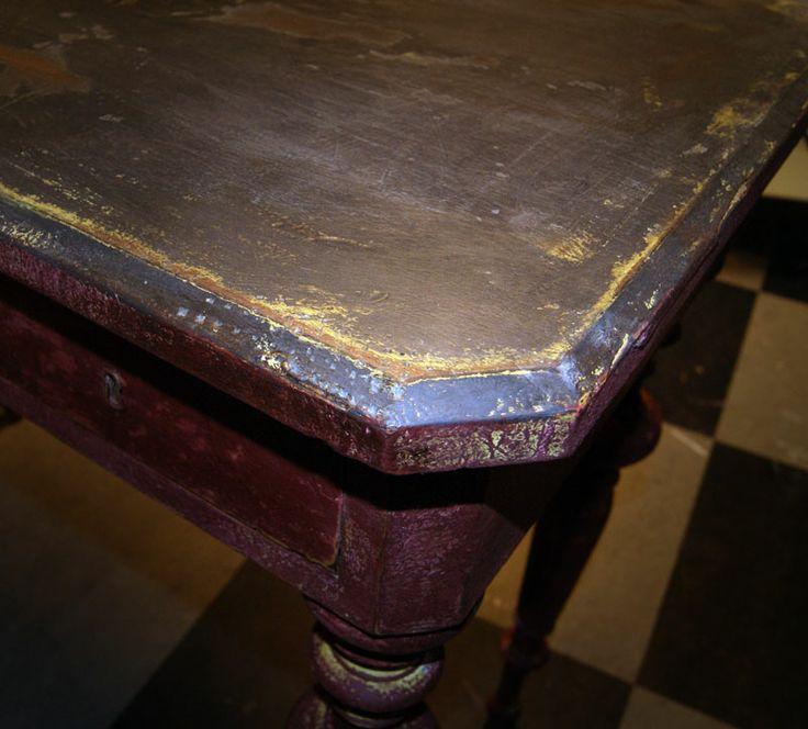 Fedt bord - med Annie Sloan maling.   Millemajshop.dk