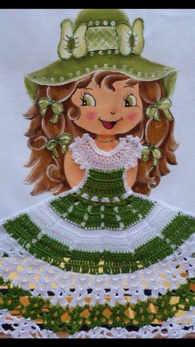 Sábanas para bebés pintadas y crochets