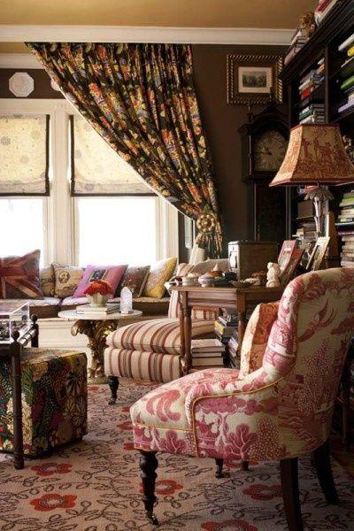 english cottage decorating photos | English cottage decor..... | English Cottage Romance... **1 rug    &  curtain separates