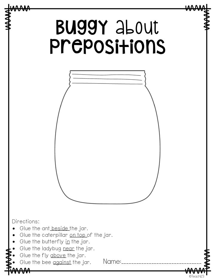 Teach123 - tips for teaching elementary school: Busy P's: Prepositions