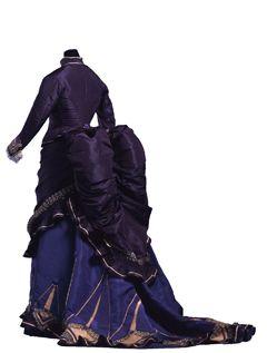Se han seleccionado 90 obras de la colección de vestidos de renombre mundial del Kyoto Costume Institute y construido la exposición en el tema de los colores. Vestido de día del siglo XIX (1874). El vestido muestra el color malva del periodo marcado por el primer tinte sintético de anilina, creado por William Henry Perkin en 1856