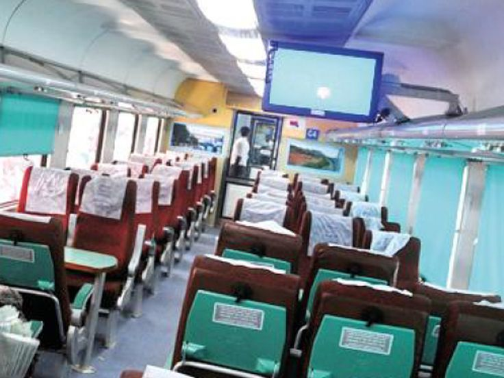 The railways will showcase its first 'Swarn' train (gold standard) on Monday. The New Delhi-Kathgodam Shatabdi Express will be the first to be launched as part of the railways' 'Swarn' project which aims to renovate India's premium trains, including Rajdhanis and Shatabdis.