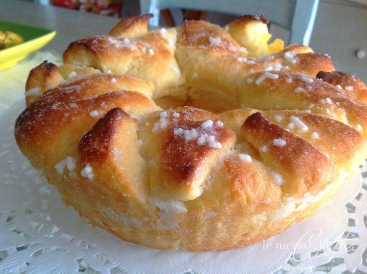 Ricetta Ciambella Brioche alla crema: imparate con la vostra Cicetta come realizzare questa semplice ricetta con tante foto e spiegazioni passo dopo passo.