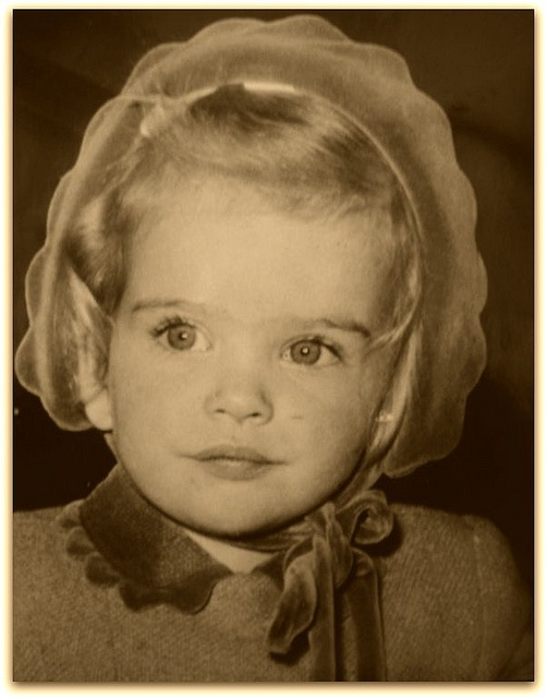 Lady Helen Windsor, only daughter of the Duke and Duchess of Kent, as a toddler.  Adorable.