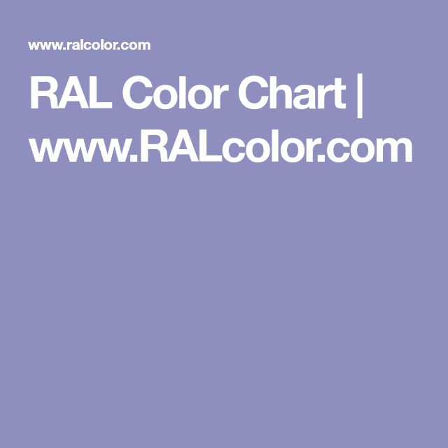 RAL Color Chart | www.RALcolor.com