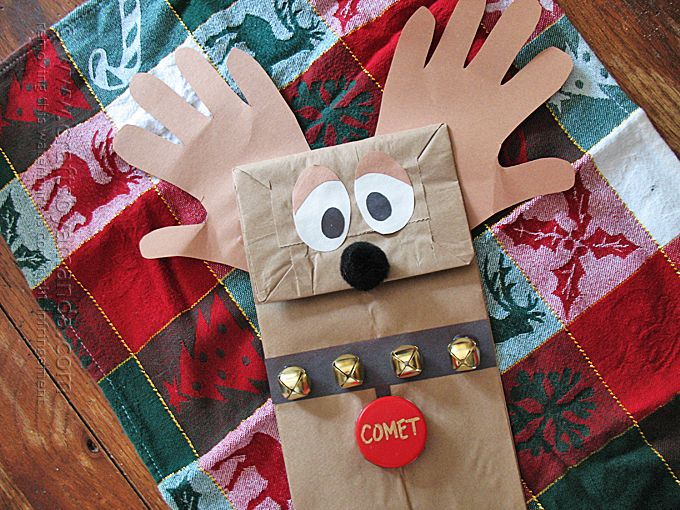 Paper Bag Reindeer Puppet from @amandaformaro. To share this Christmas creation with grandma, save it to Keepy! You can download the app for free at http://getapp.keepy.me/PIN