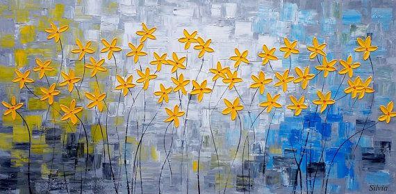 De bloem schilderij origineel schilderij abstracte kunst