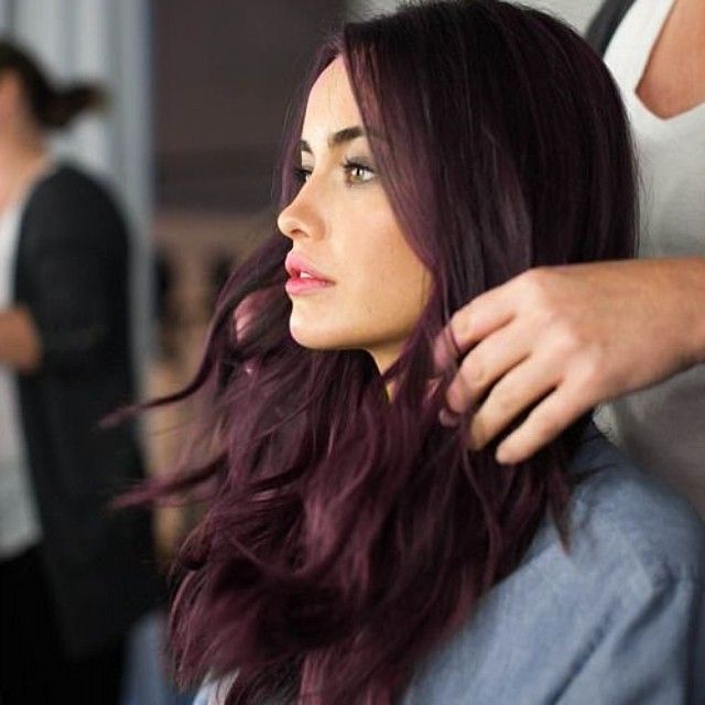 25 best ideas about plum hair highlights on pinterest - Brown and violet combination ...