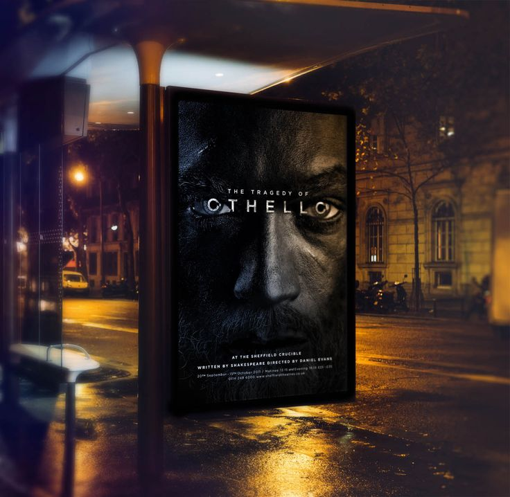 Othello. Advertising. Communications. Poster. Designed by White is Black.