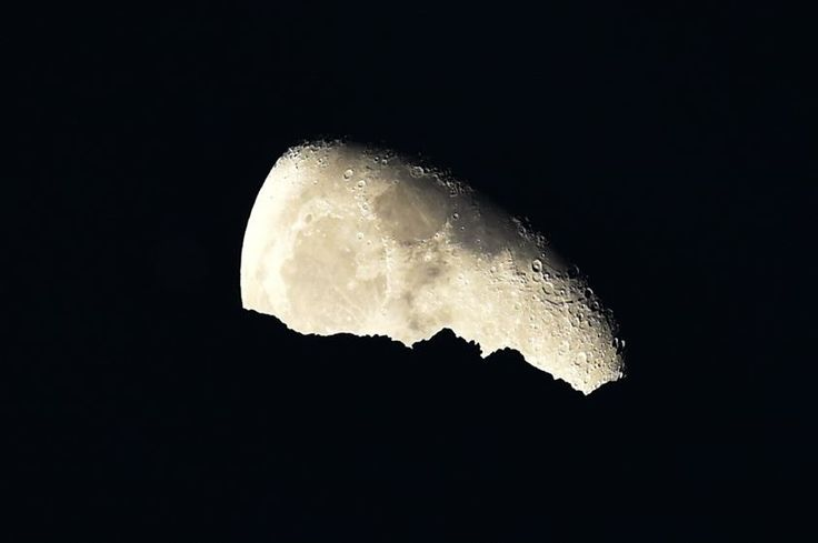 Moon over Dharamsala