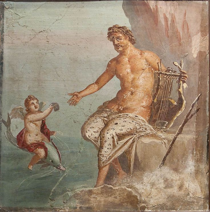 Polyphemus receiving a letter from Galatea. Pompeii or Herculaneum, 45-79 years