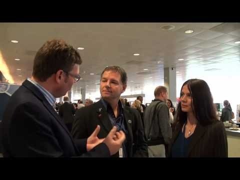 Derk-Jan de Grood interviews delegates at EuroSTAR Conference 2012