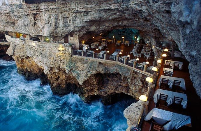 The most sexiest dinner you could possibly have - Grotta Palazzese restaurant. Take a tour on jebiga.com