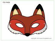 maschera volpe da stampare