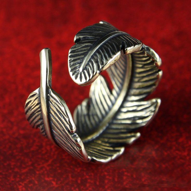 R059 Oro Antico Placcato Gli Anelli Della Piuma del Foglio di Disegno Formato Dell'anello 6 Anelli Dei Monili di Modo 2016 di Alta Qualità