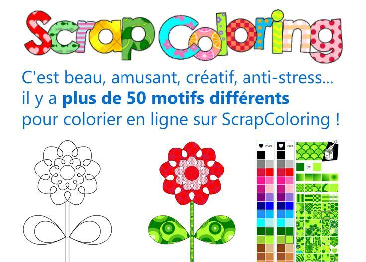 Coloriage en ligne créatif avec motifs et dégradés, coloriages à imprimer, coloriage de prénom et coloriage en ligne de vos dessins et photos! OK OK OK