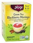 Organic Green Tea Blackberry Moringa - 16 Tea...