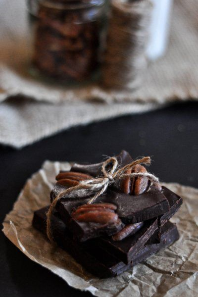 salted caramel pecan chocolate bark by The Food Intolerant Teen