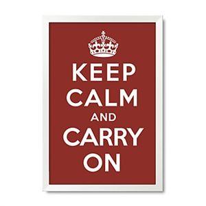 """Typograph & symboles KEEP CALM AND CARRY sur Poster encadré imprimer 15"""" x 21"""""""
