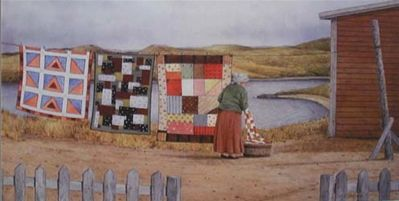 Newfoundland Art - Dale Ryan Gallery Reminds me of Nan's quilts.